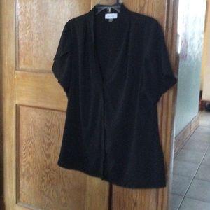 Black Calvin Klein short sleeved blouse XL